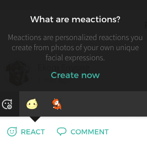 Just10 post reaction module, featuring Meactions.