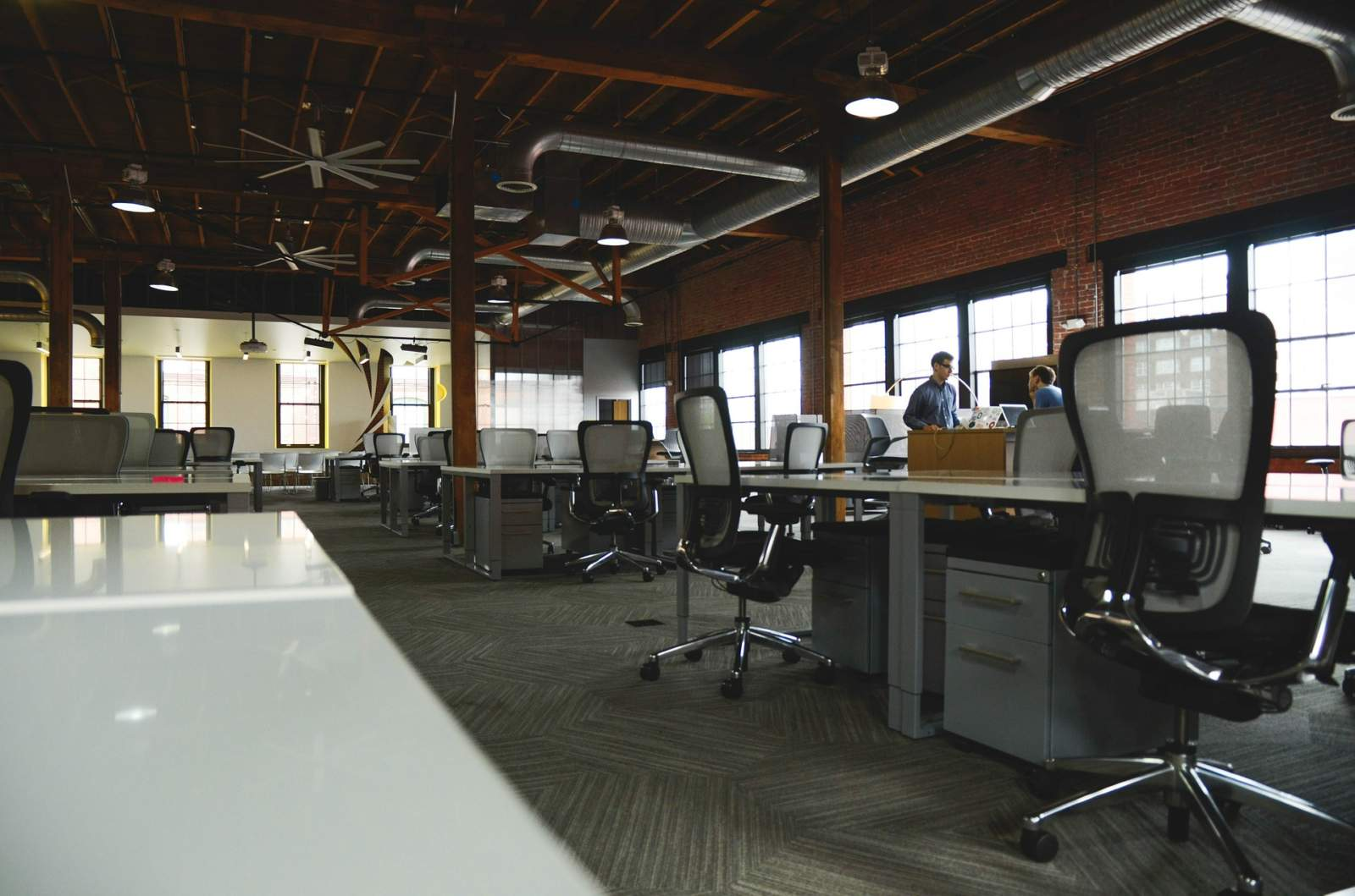 office space with workstations